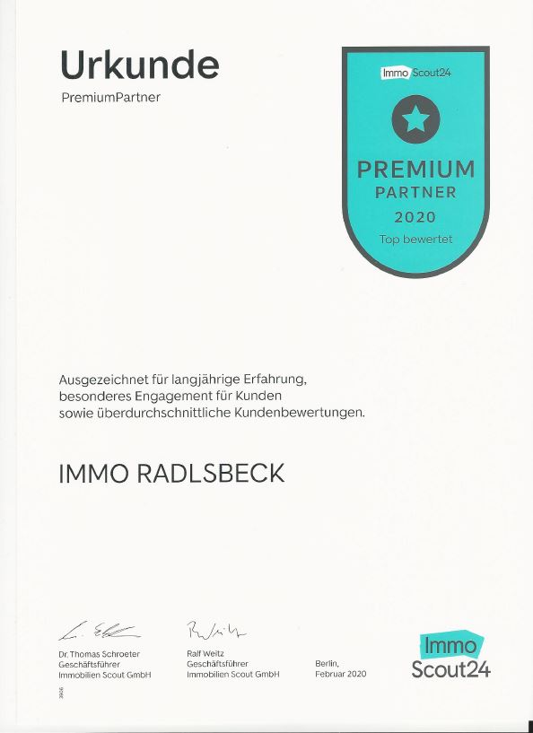 Urkunde ImmoScout24