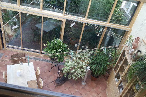 Wintergarten von oben